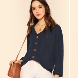 MUST GO! Navy blue blouse